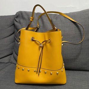 Zara Yellow Bucket Bag